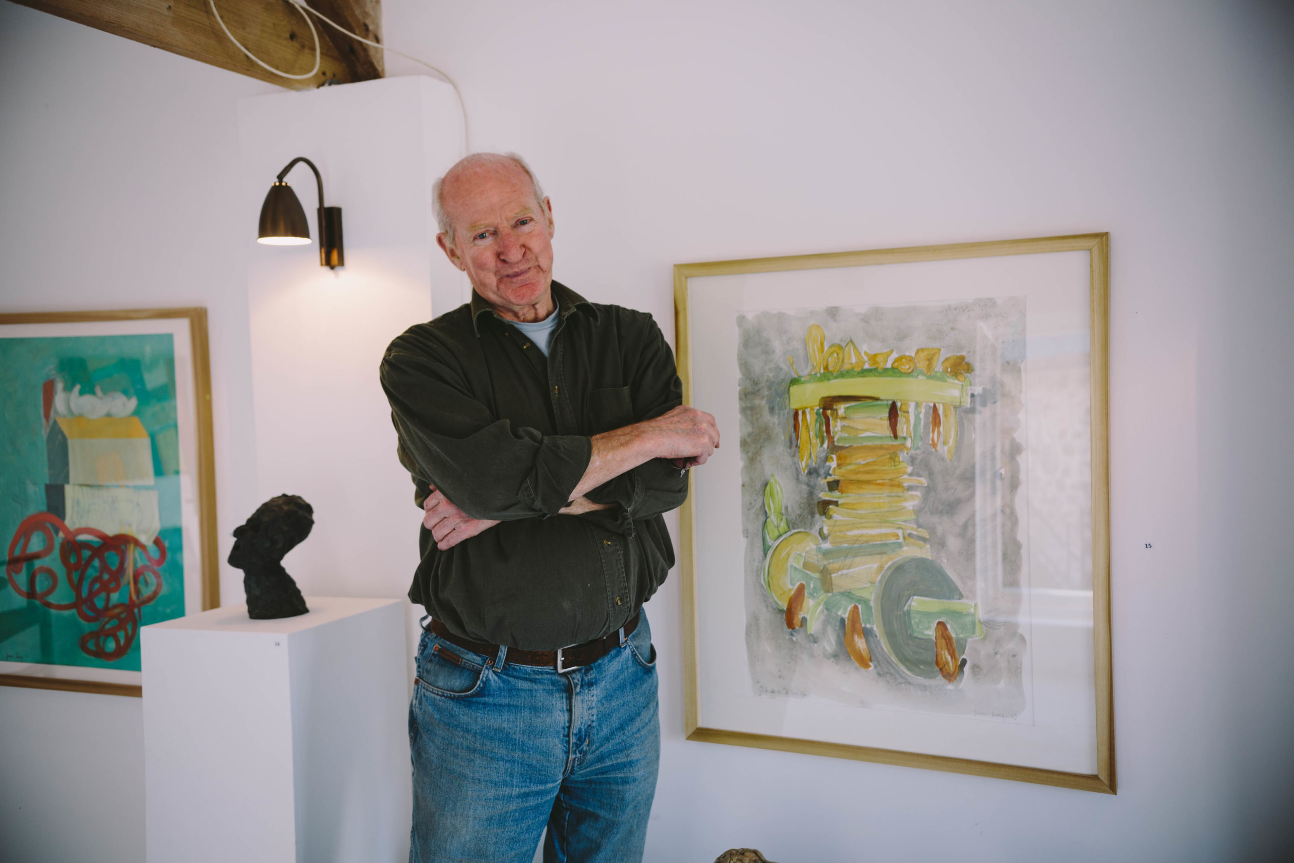David King look at the camera in his studio
