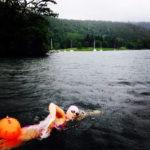 Lisa Lloyd swimming in open water