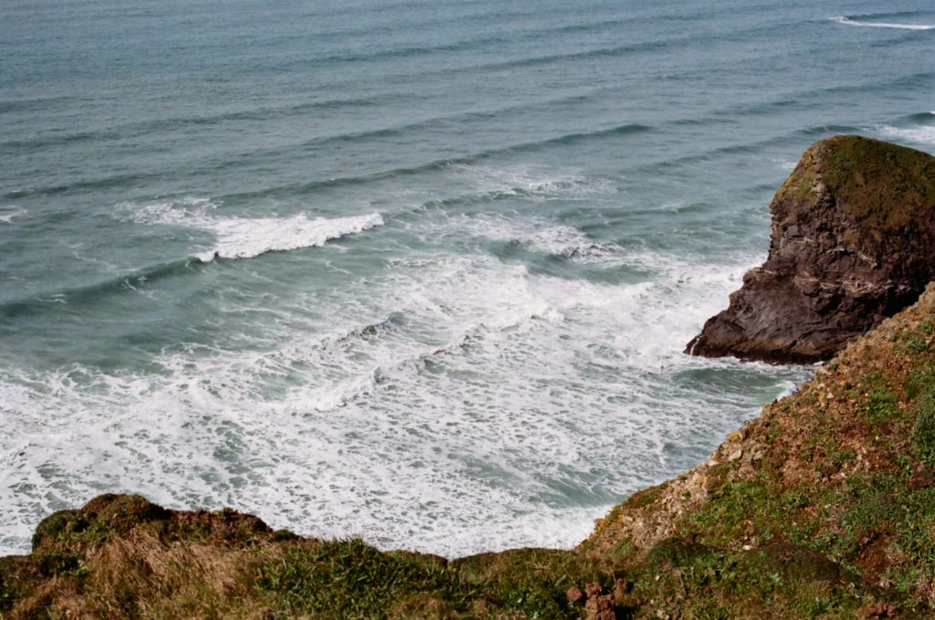 Waves and cliff edge